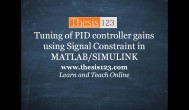 Tuning of PID controller gains  in MATLAB SIMULINK
