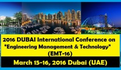 2016 DUBAI International Conference on Engineering Management and Technology