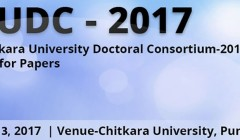Chitkara University Doctoral Consortium (CUDC 2017), May 13, 2017, Chitkara University, Punjab - India