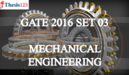 GATE 2016 ME - SET 3 - Complete Solutions