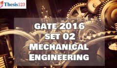 GATE 2016 ME - SET 2 - Complete Solutions