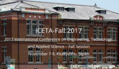 The 2017 International Conference on Engineering, Technology, and Applied Science-Fall Session (ICETA-Fall 2017)