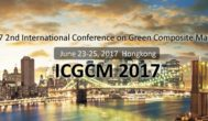2017 2nd International Conference on Green Composite Materials (ICGCM 2017) - SCOPUS, Ei